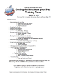 IPad Class March 2017