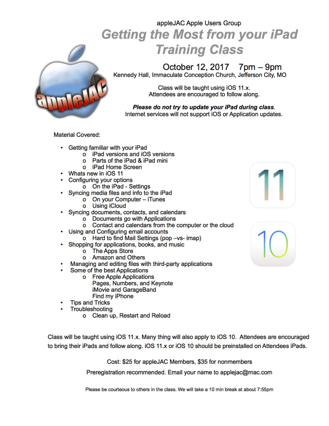 IPad Class with iOS 11
