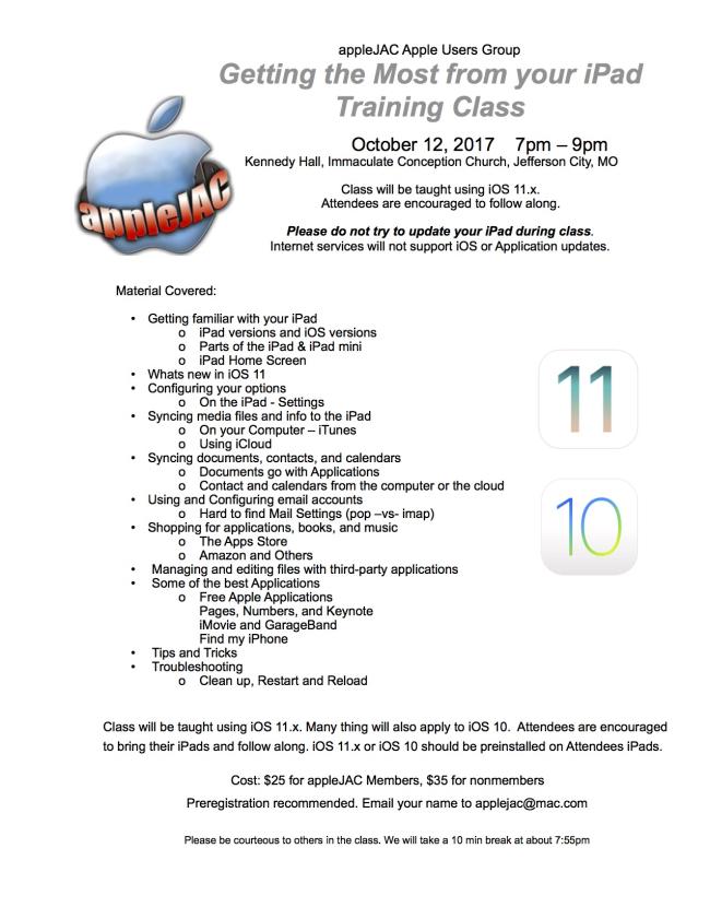 IPad Class with iOS 11