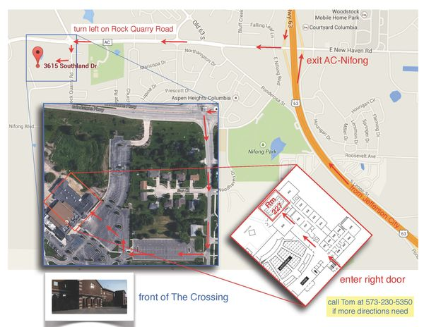 The Crossing map