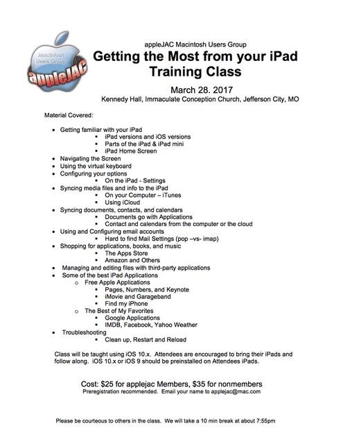IPad Class March 2017